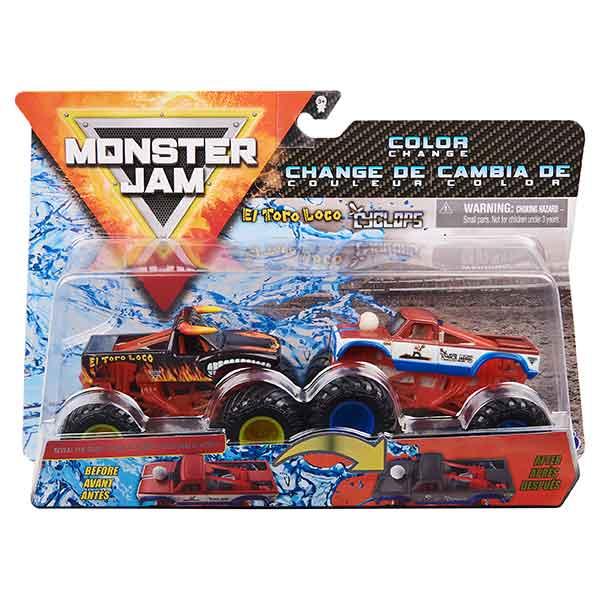 Monster Jam Toro Loco vs Cyclops Color Change - Imagen 1