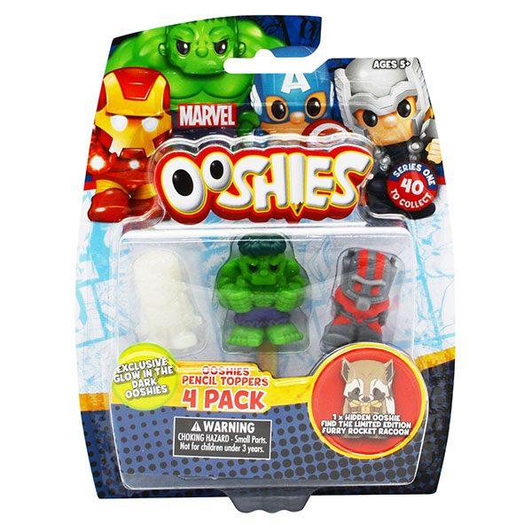 Ooshies DC Comics Pack 4 Mini Figuras Personajes