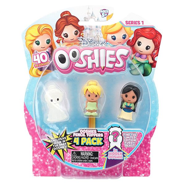 Ooshies Disney Pack 4 Mini Figuras Personajes