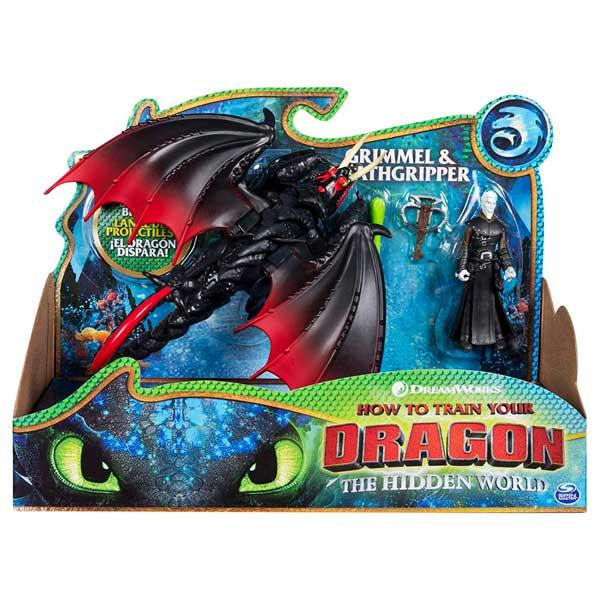 Dragones de Berk Pack 2 Figuras Vikingo y Dragón Pinza Mortal - Imagen 1