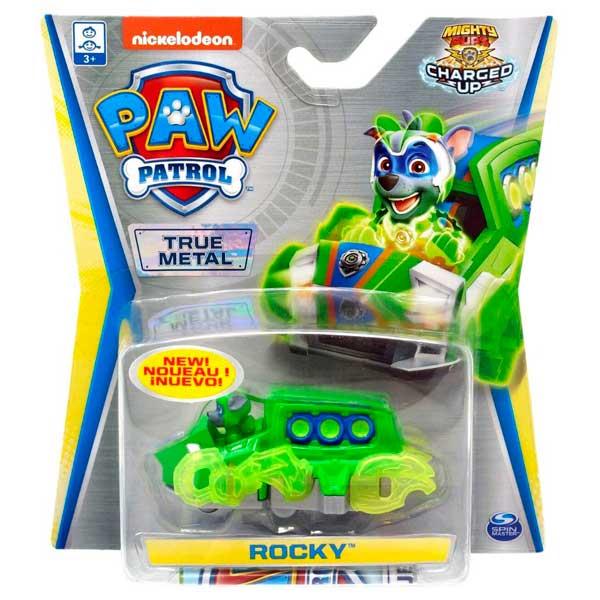 Patrulla Canina Mighty Rocky con Vehículo Metal