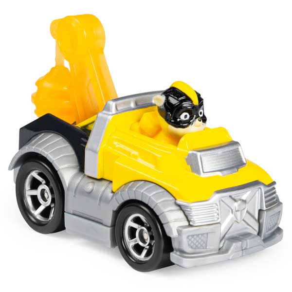 Patrulla Canina Mighty Rubble con Vehículo Metal
