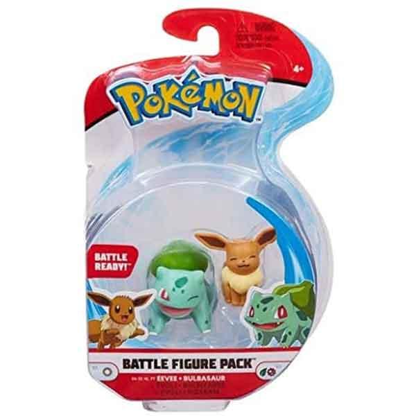 Pokemon Figura Combate Eevee y Bulbasaur - Imagen 1