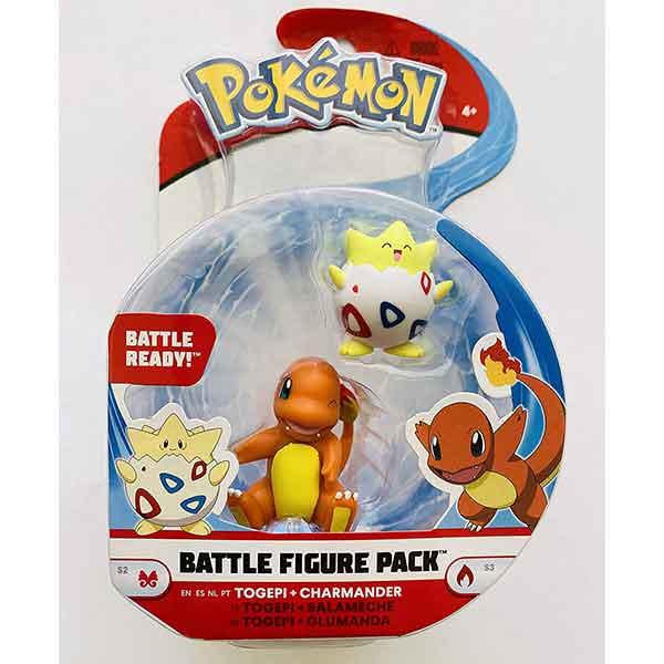 Pokemon Figura Togepi y Charmander