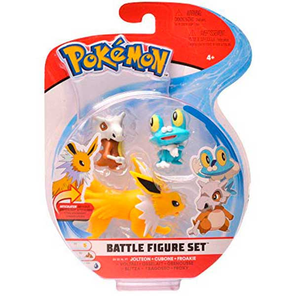 Pokemon Figuras Pack Jolteon-Cubone-Froakie