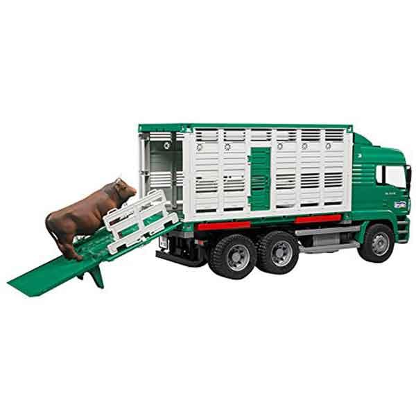 Bruder 9041 Camión de Ganado con Vaca - Imagen 1