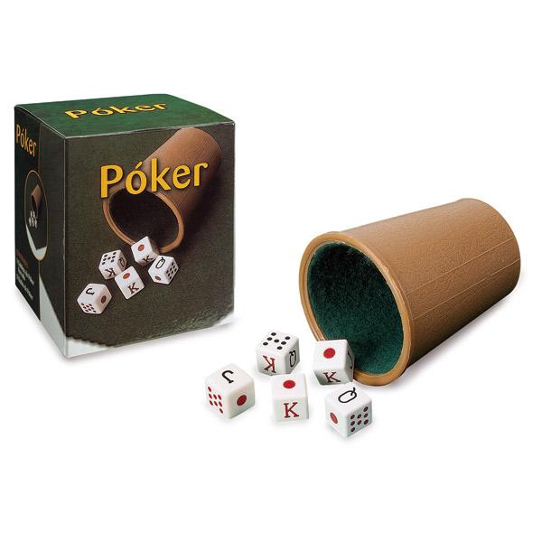 Cubilete Forrado y Dados de Póker