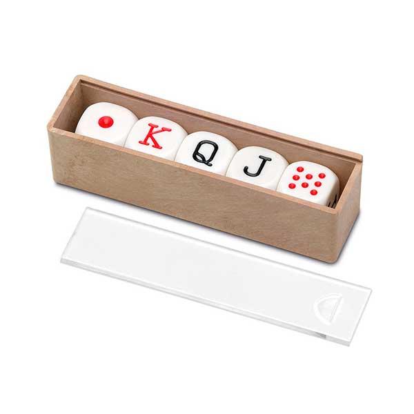 Caja de 5 Dados de Poker