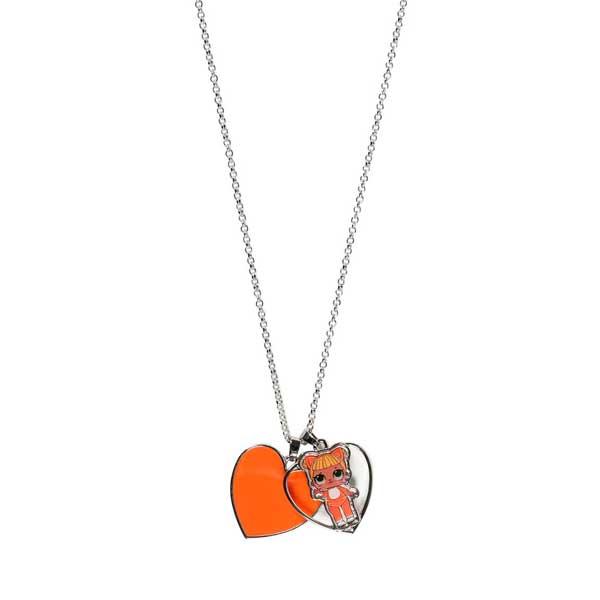 Collar Bisuteria LOL Corazón Naranja