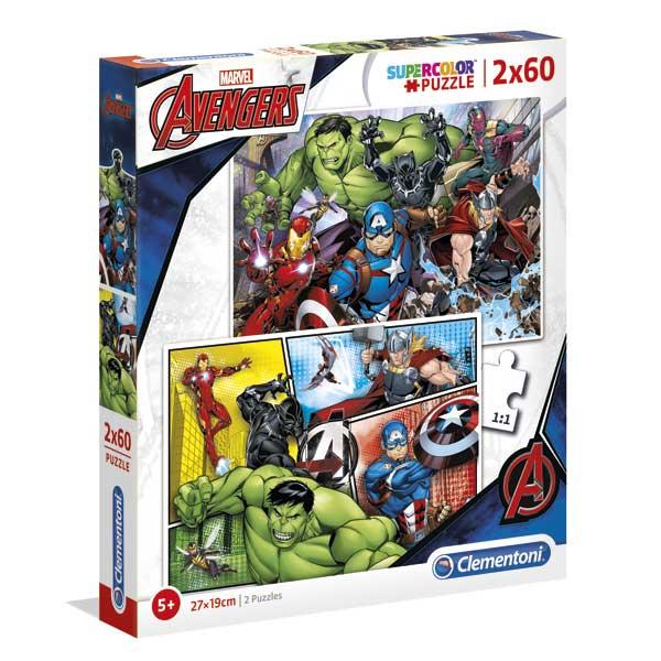 Os Vingadores Puzzle 2X60P Avengers