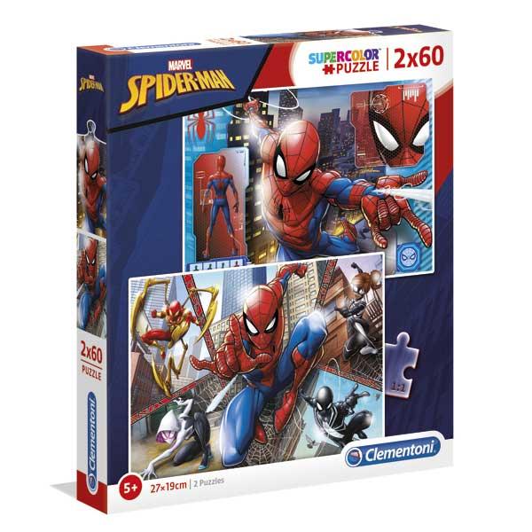 Homem Aranha Puzzle 2X60P Spiderman