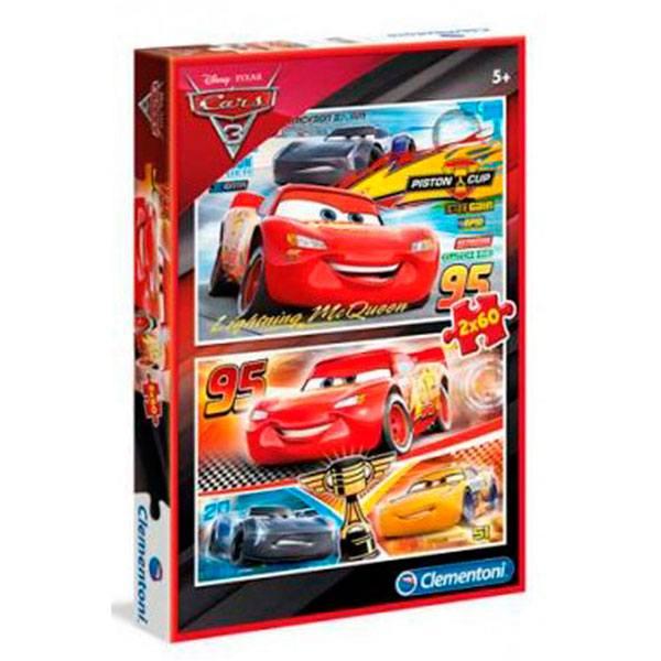 Puzzle 2x60p Cars 3
