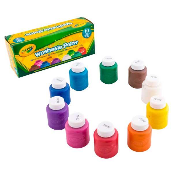 Témperas Lavables Pack 10 Colores