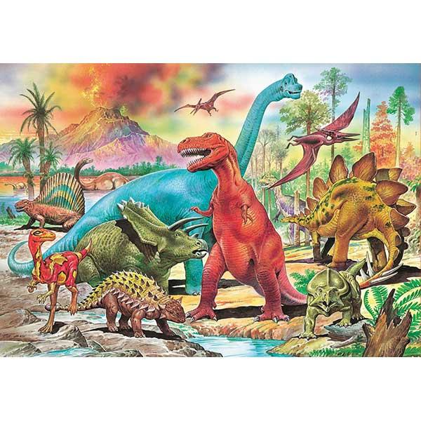 Puzzle 100p Dinosaurios - Imatge 1