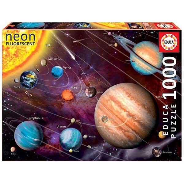 Puzzle 1000P Sistema Solar Neon