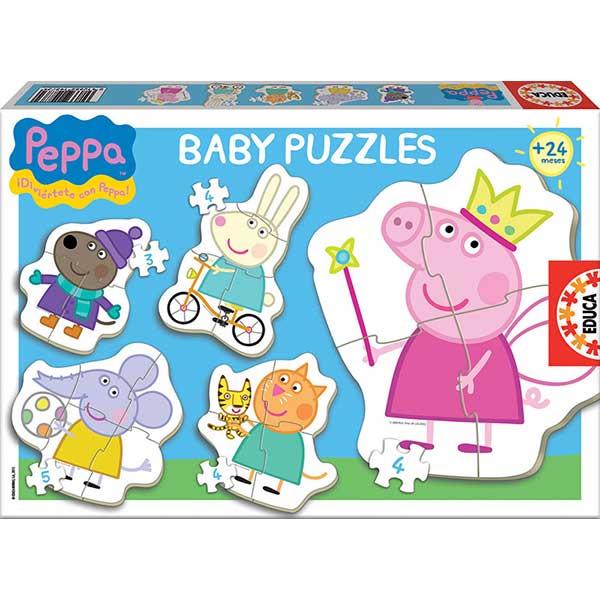 Baby Puzzles Siluetas Peppa Pig