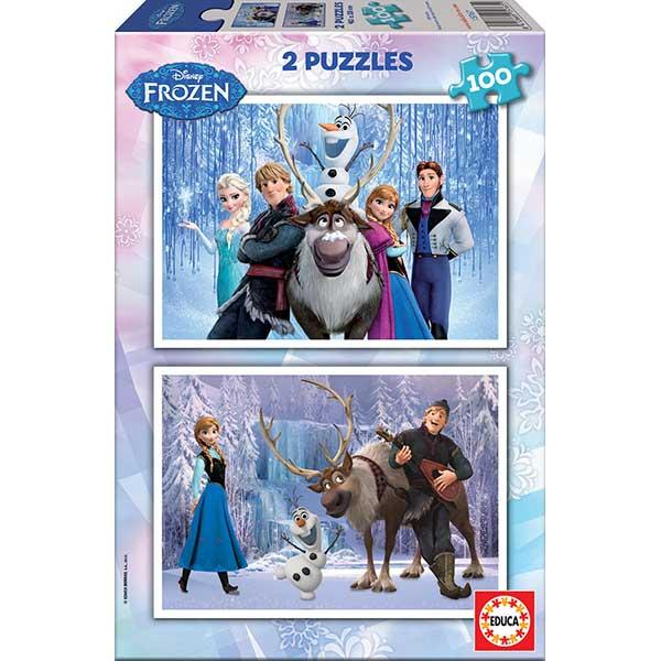 Frozen Puzzle 2X100P