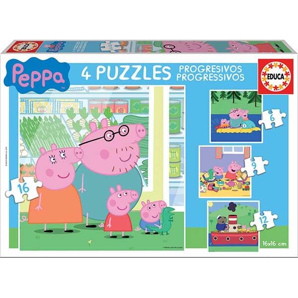 Puzzle Progresivo 6+9+12+16 Peppa Pig - Imagen 1