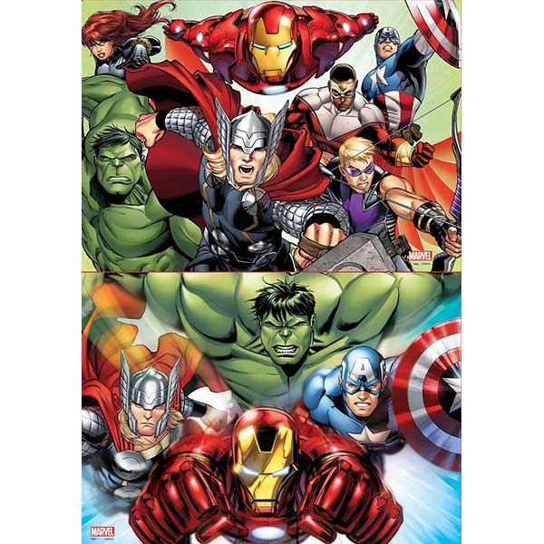 Puzzle 2x48 Avengers - Imatge 1