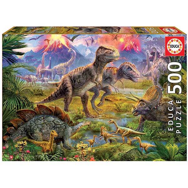 Puzzle 500P Encontro De Dinossauro