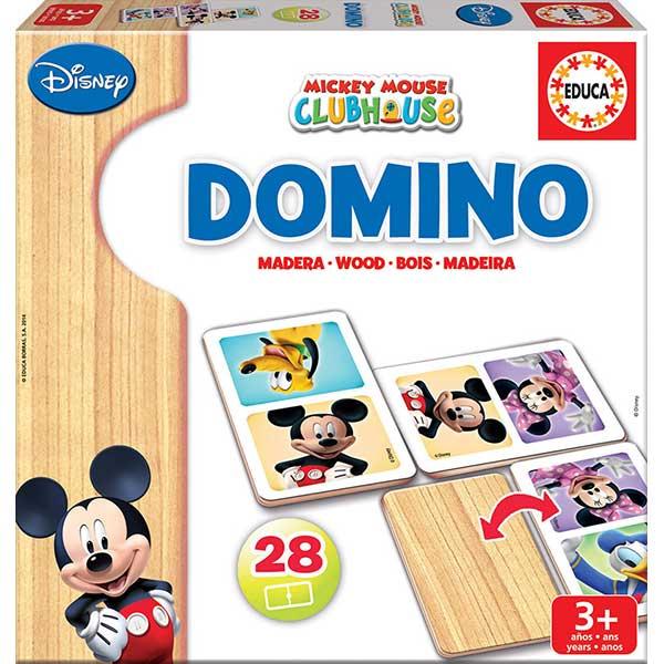 Dòmino Fusta Infantil Mickey Minnie 28p - Imatge 1