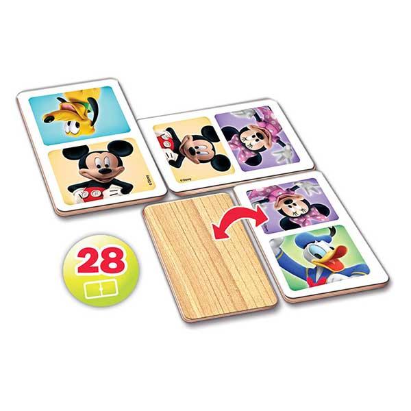 Domino Madera Infantil Mickey Minnie 28p - Imatge 1