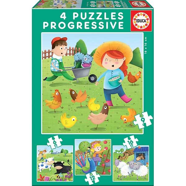 Puzzle Progressivo 6+9+12+16P Fazenda
