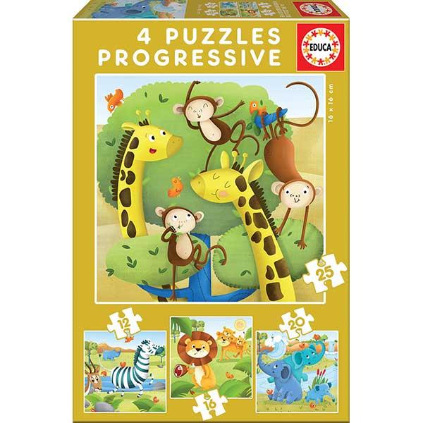 Puzzle Progresivo 12+16+20+25 Selva
