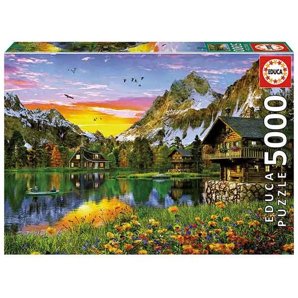 Puzzle 5000p Lago de los Alpes - Imagen 1