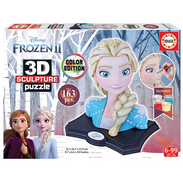 Puzzle Frozen 2 3D Color Sculpture - Imatge 1