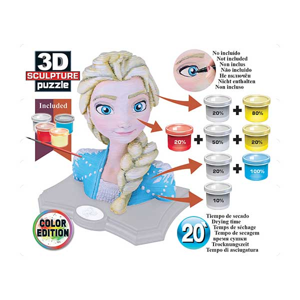 Puzzle Frozen 2 3D Color Sculpture - Imatge 3