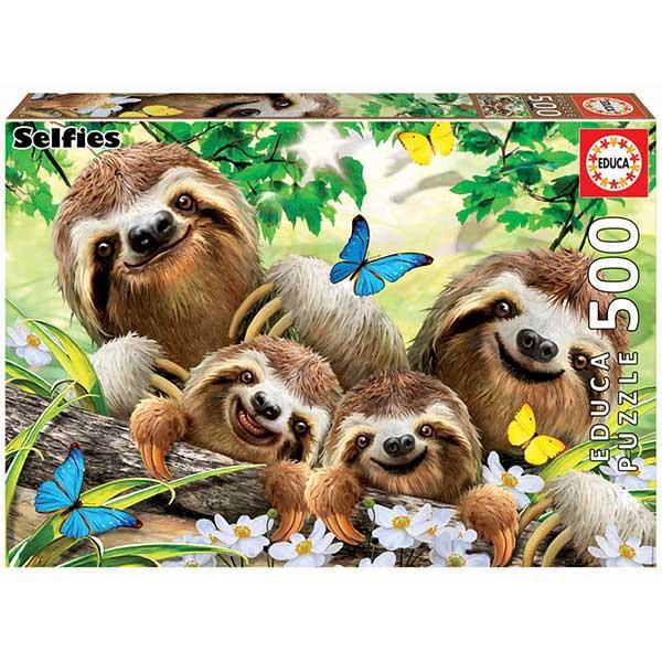 Puzzle 500p Familia Perezosos