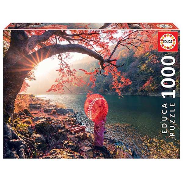 Quebra-cabeça 1000p Nascer do sol no rio Katsura