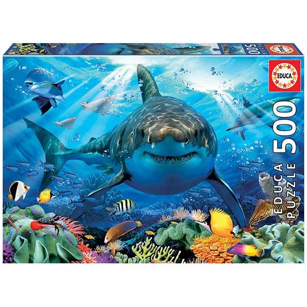 Puzzle 500P Tubarão Branco