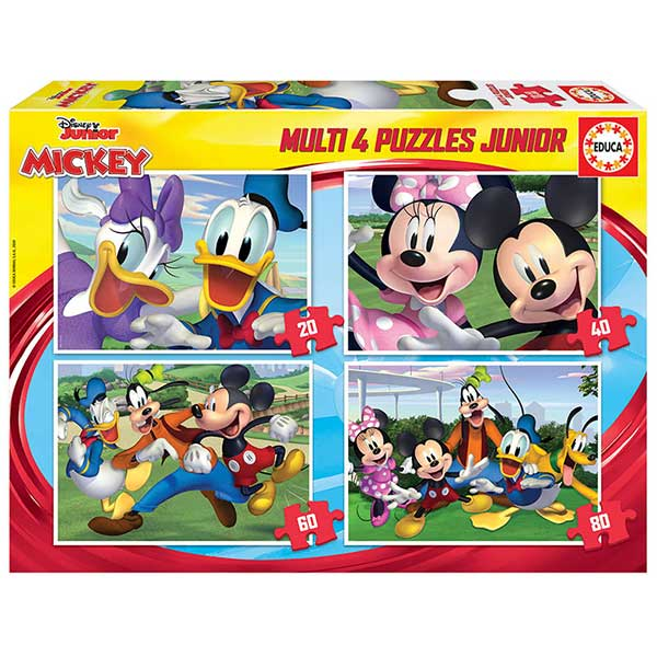 Disney Multipack 4 Puzzles Mickey 20+40+60+80P
