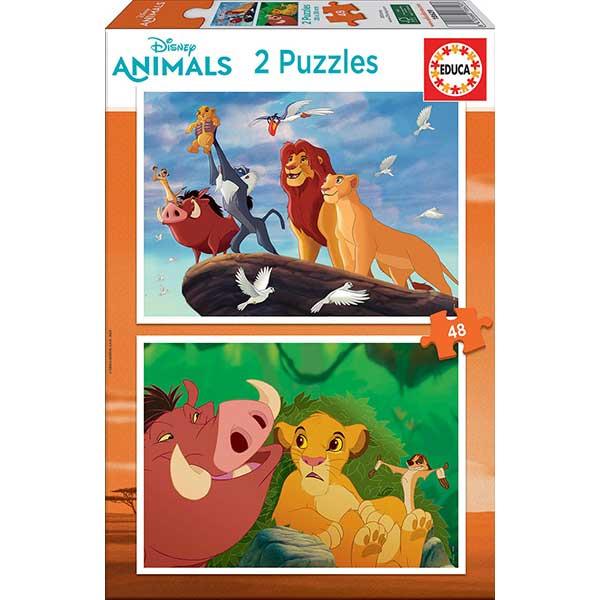 Disney Puzzle 2X48P Lion King