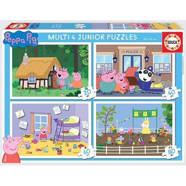 Puzzle Multipack 20+40+60+80p Peppa Pig