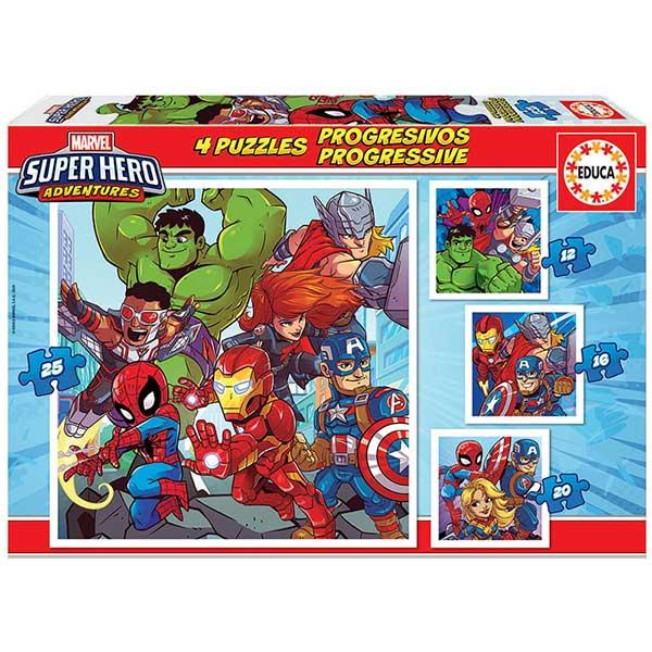 Os Vingadores Puzzle Multipack 12+16+20+25P Marvel