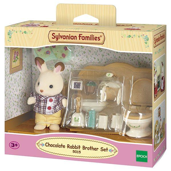 Sylvanian Families 5015 Set Hermano Conejo Chocolate Baño