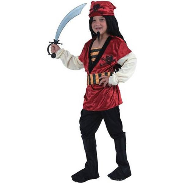 Disfraz Pirata Rojo 4-6 Años