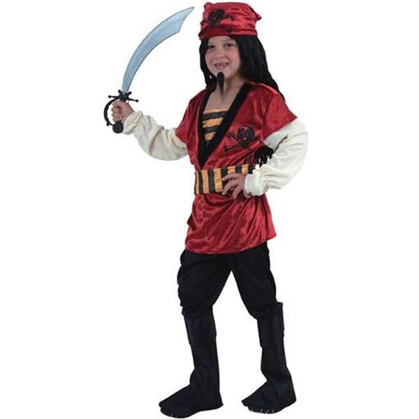 Disfraz Pirata Rojo 7-9 Años