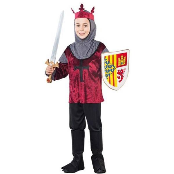 Disfraz Caballero Cruzado Medieval 7-9 Años