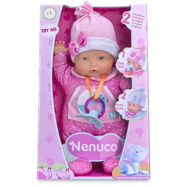 Muñeco Nenuco Blandito 2 Funciones Color Rosa