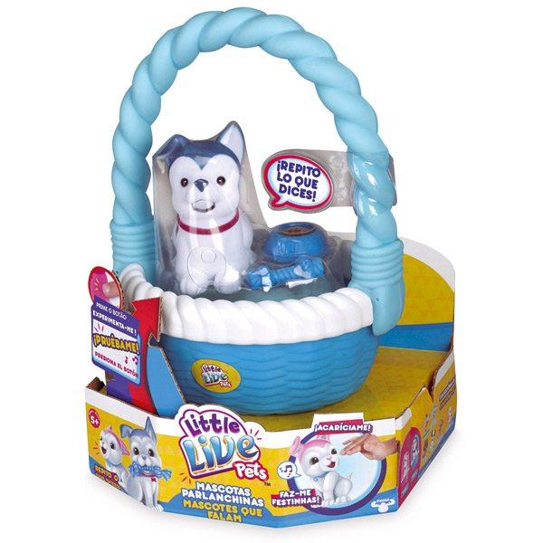 Perrito con Cesta Azul Little Live Pets