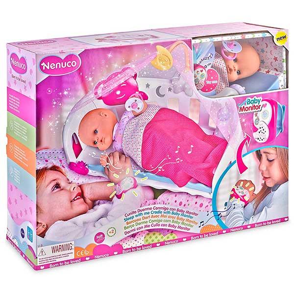 Muñeco Nenuco Cunita Duerme Conmigo con Baby Monitor