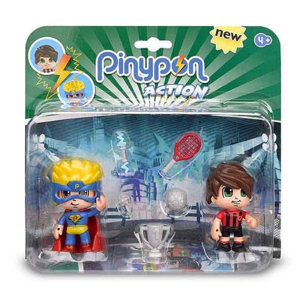 Pinypon Action Figuras Pack Super Heroe y Deportista - Imatge 1