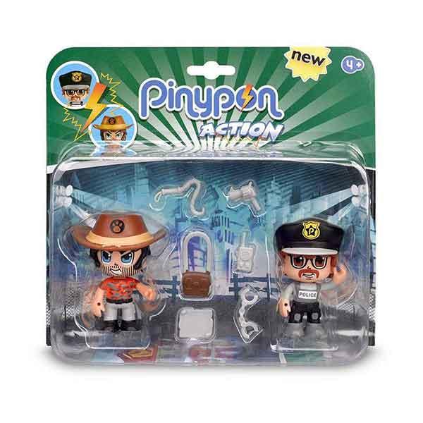 Pinypon Action Figuras Pack Policia y Aventurero - Imatge 1