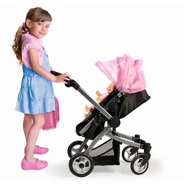 Nenuco Cochecito de Bebé con Bolsa 3en1 - Imagen 1