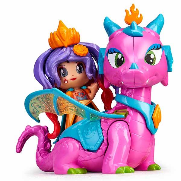 Pinypon Figura Reina Queens y Dragón