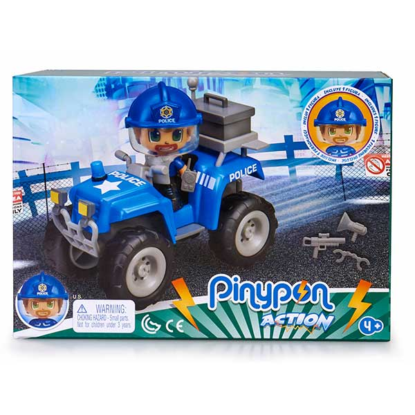 Pinypon Action Figura Quad con Policía